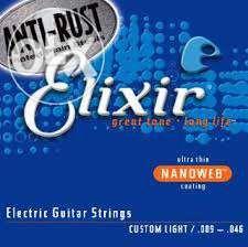 Cordas Elixir Nanoweb para Guitarra Eléctrica