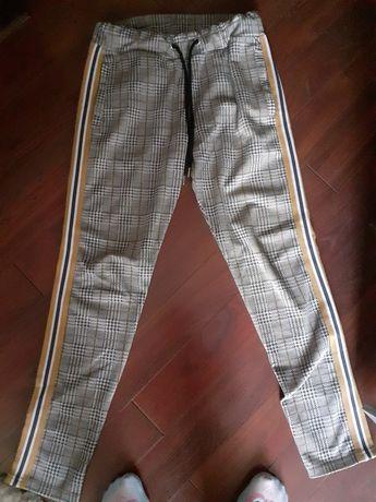 Spodnie męskie z lampasem