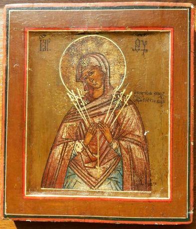 Семистрельная икона Пресвятой Богородицы 19 век Россия