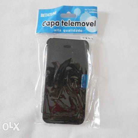 Bolsa Iphone 4 5 6 tipo livro forrado por dentro