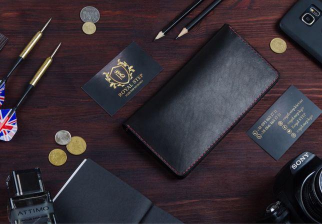 Кожаный мужской портмоне кошелек Ручная работа