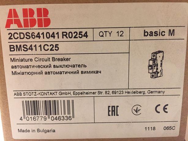 Продаю автоматический выключатель 1-полюсный АВВ Basic M 25А