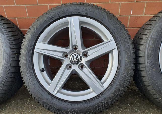 Продам колеса vw audi 5x112 r16 резина зимня Dunlop 205/55