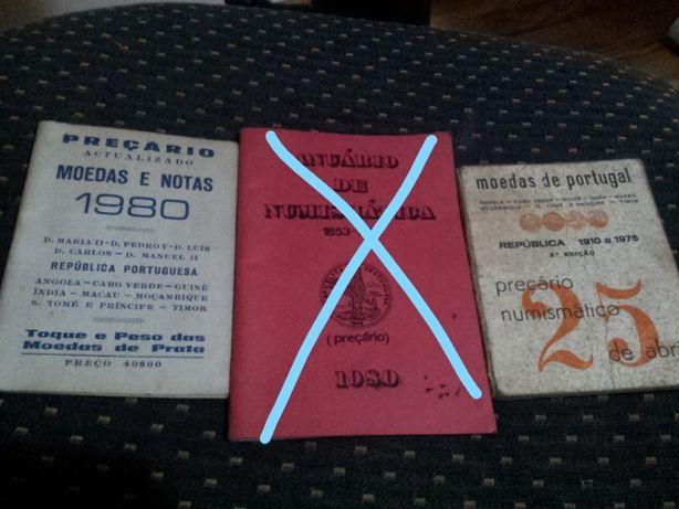 Preçários numismática