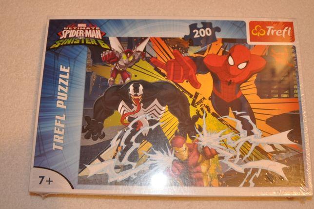 puzzle Trefl Spiderman 200 elementów nowe zafoliowane