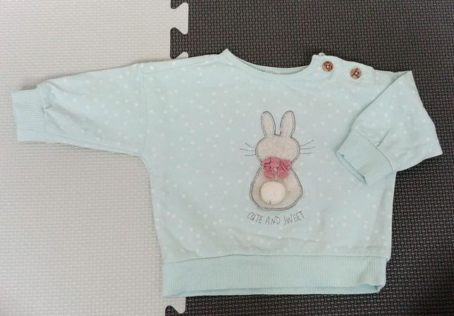 Bluza z króliczkiem dla dziewczynki rozm. 62