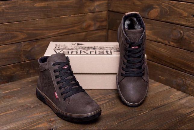 Мужские зимние ботинки Levis,Tommy Hilfiger из натуральной кожи