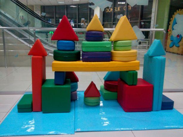 Детский пуф, конструктор, кресло-мат, качалка, машинка-кресло