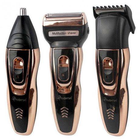 Машинка для стрижки волос и бороды Gemei GM-595 3 в 1 триммер бритва