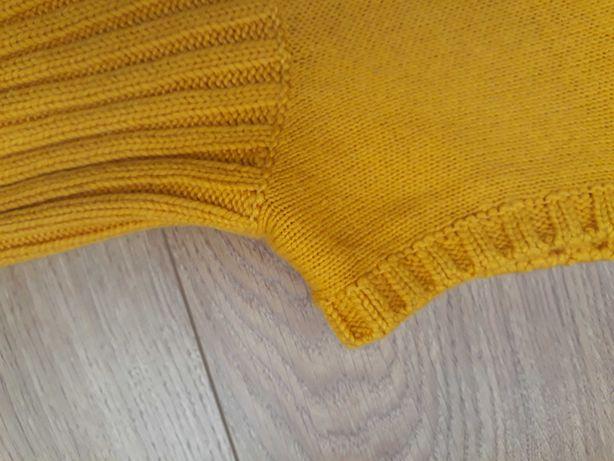 Bezrękawnik żółty swetr golf 38