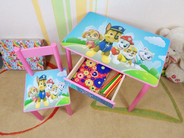 """Детский столик и стульчик """"Щенячий Патруль"""" стол-парта от 1 до 7 лет"""