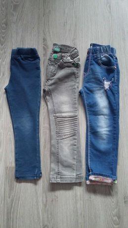 Spodnie dziewczęce 104 3 pary
