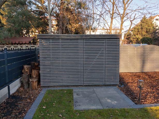 Domek ogrodowy z drewutnią 6m2, drewutnia