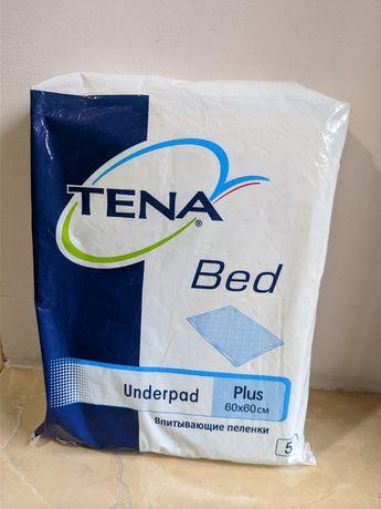 Впитывающие пеленки 60*60 TENA PLUS, одноразовые