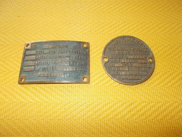 Stare Tabliczki Mosiężne