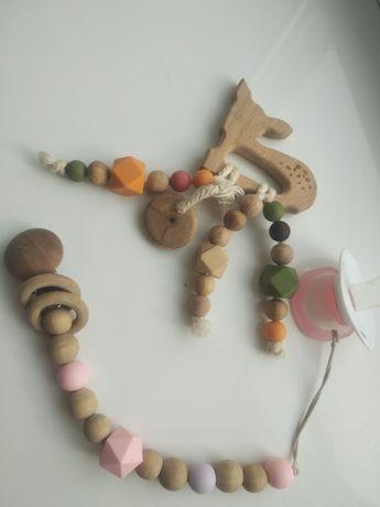 ЭКО игрушка ,Погремушка ,держатель для сосок