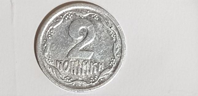Монета 2 копейки 1993 года редкий брак!!!