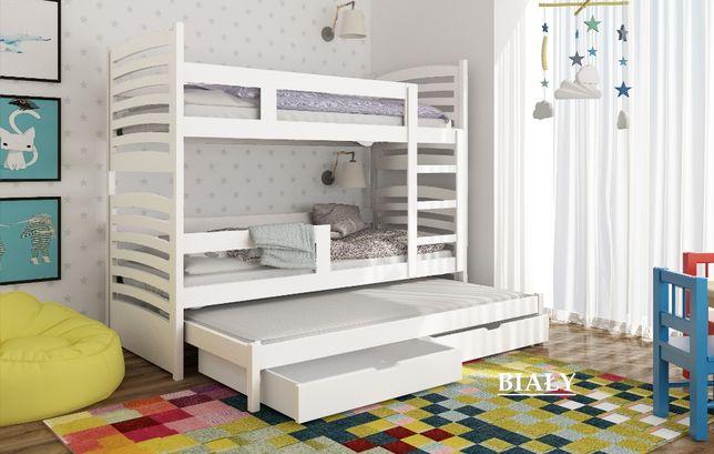 Łóżko piętrowe OLI 3-osobowe w różnych kolorach. Dostawa GRATIS