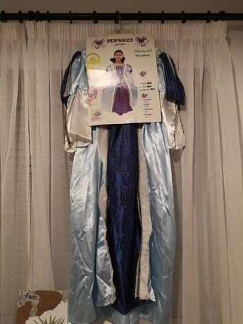 Fantasia/vestido de carnaval - princesa azul