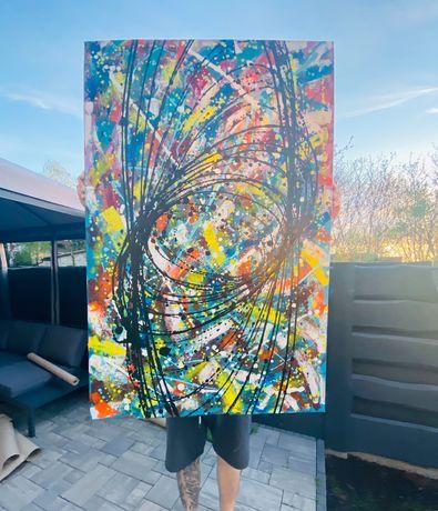 Obraz abstrakcja akryl 120x80