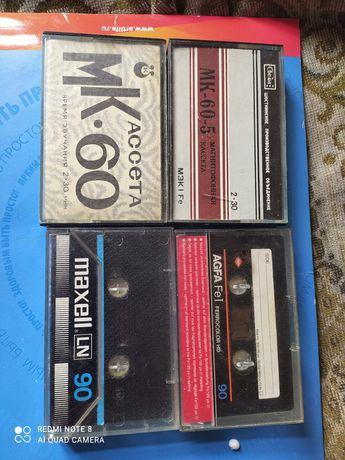 Кассеты для магнитофона Свема МК-60-1,2,5. 10 шт,DVD диски с фильмами