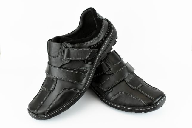 Buty na rzepy wsuwane 179cz SKÓRA