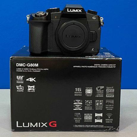 Panasonic Lumix DMC-G80 (Corpo) - 16MP - NOVA