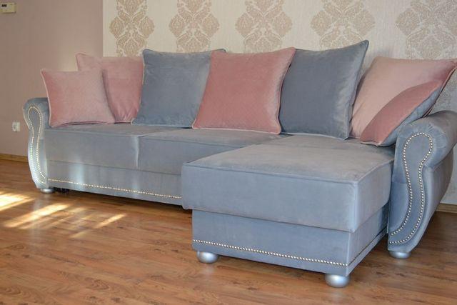 Narożnik kanapa sofa narożna SOFIA funkcja spania prowansalski styl