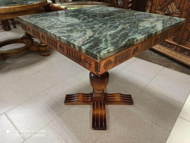 Стол столик мрамор дерево массив Бельгия