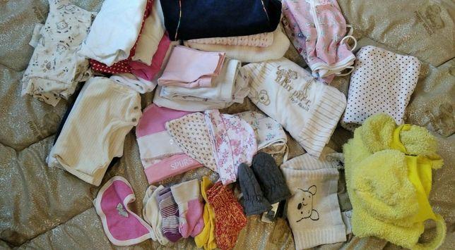 Пакет вещей для девочки 0-3 мес костюм распашонки боди ползунки штаны