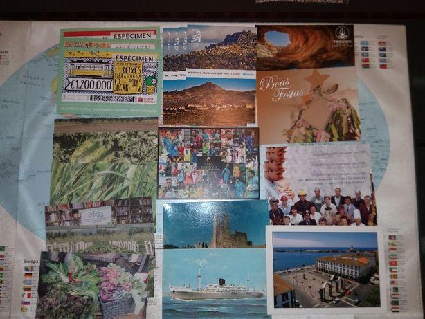 Calendários, postais, autocolantes e marcadores de livros p colecção