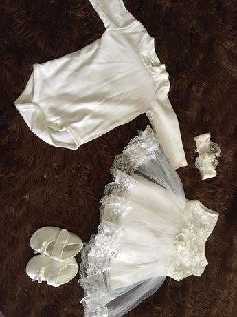 Набор костюм платье для крещения