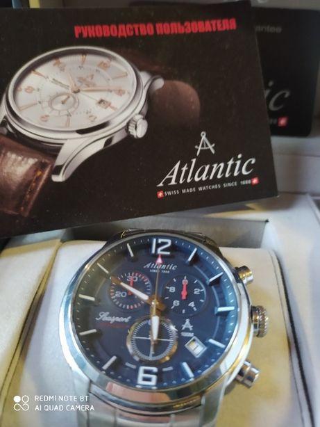 Швейцарские кварцевые часы ATLANTIC 87466.41.55, сапфир!