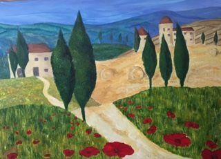Obraz 'Toscania' 70x50cm, akryl - artysta Genua.Art