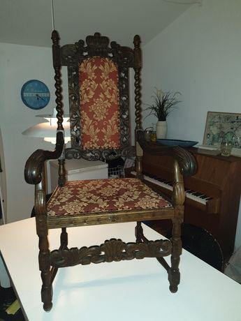 Fotel tron antyk dab