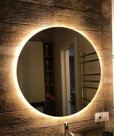 Акция! *Круглое Зеркало для ванной с Led Подсветкой 580 мм - 980 грн!
