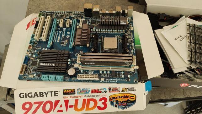 Płyta głowna gigabyte ga970a-ud3 am3+ amd fx 6100 HyperX Genesis 12gb