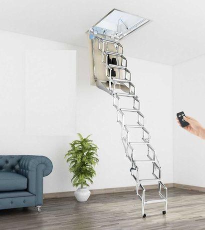 Promo!Elektryczne  schody strychowe, AutoAttic Vip Soffitta, 120x70 cm