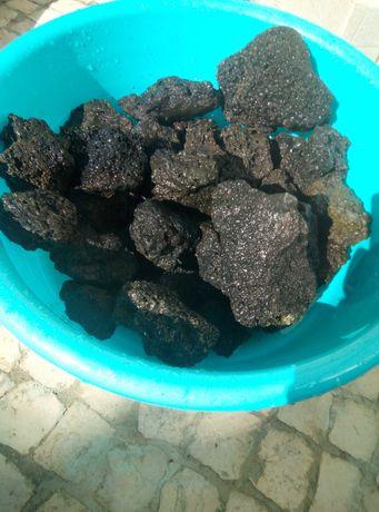 Rochas de lava para aquário Aquascaping Varias rochas pretas