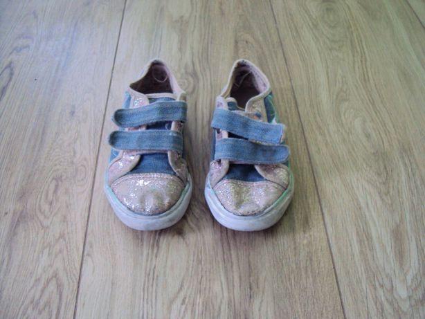 Buty sportowe trampki dla dziewczynki na rzepy 29