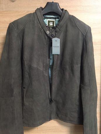Куртка G-star,из США,Голландия,нат. кожа,набук XL слимфит на L  6000гр