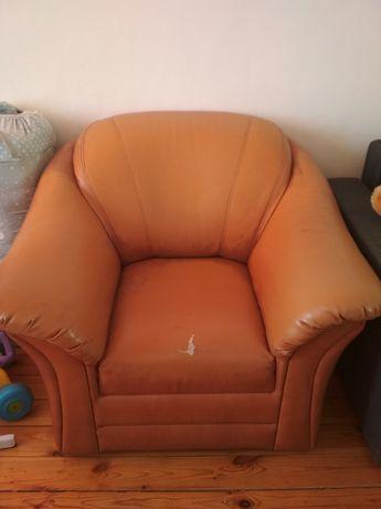 Fotel skórzany - pilnie sprzedam
