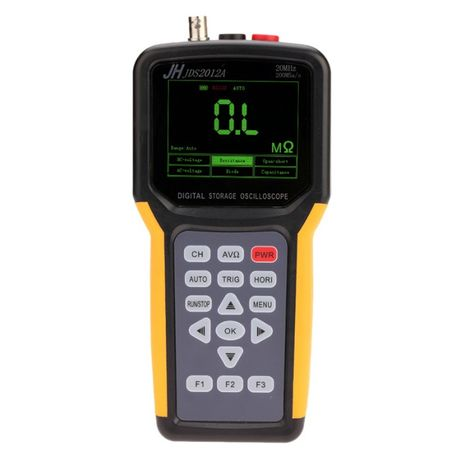 Osciloscópio e multímetro de 1 canal digital 1 analógico