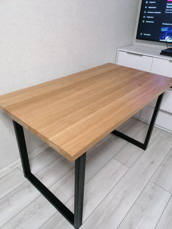 Стол обеденный кухонный, стіл обідній, дубова стільниця
