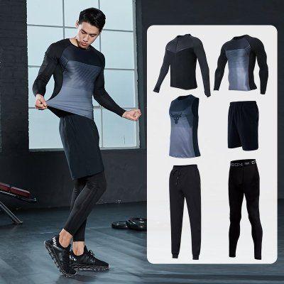 """Компрессионная одежна """"Project Rock"""" 6 в 1 рашгард, леггинсы, футболка"""