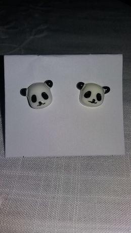 Brincos pandas. Novos com etiqueta.