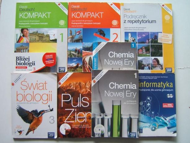 PODRĘCZNIK Deutsch KOMPAKT z Ćwiczeniami 2CD Niemiecki Chemia Biologia