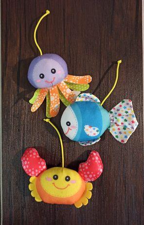 Игрушки для мобиля Рыбка Крабик Медуза
