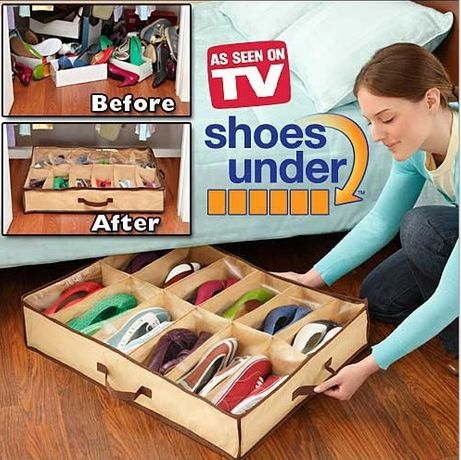 Органайзер для хранения обуви 12 пар Shoes Under 57х67х14 см. сумка