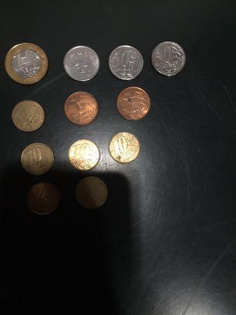 Lote moedas Brasil numismática